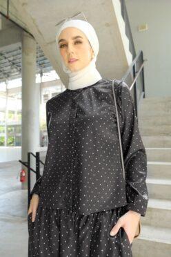 habra haute emma skirt set skirt kembang skirt labuh skirt muslimah skirt and blouse skirt set outfit skirt set summer skirt set casual skirt summer black EM07