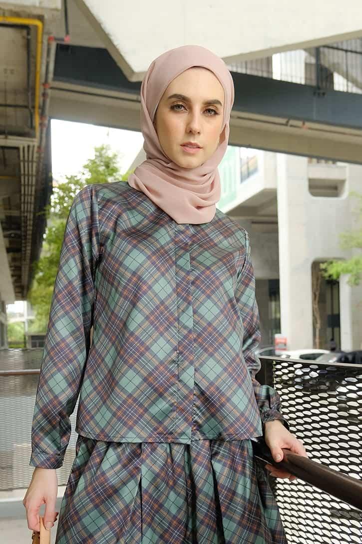 habra haute emma skirt set skirt kembang skirt labuh skirt muslimah skirt and blouse skirt set outfit skirt set summer skirt set casual skirt summer blackgreen EM11