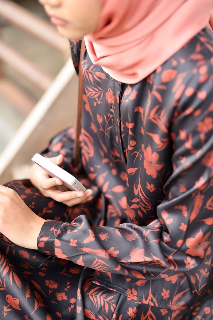 habra haute emma skirt set skirt kembang skirt labuh skirt muslimah skirt and blouse skirt set outfit skirt set summer skirt set casual skirt summer black EM14