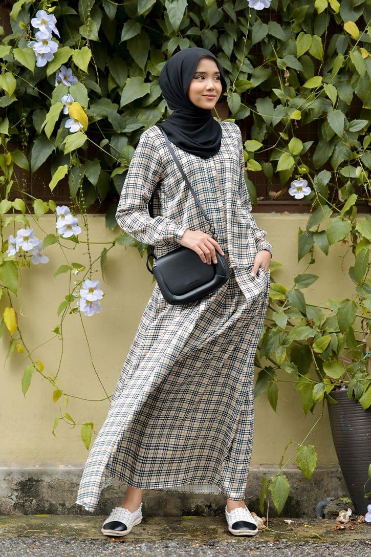 habra haute emma skirt set skirt kembang skirt labuh skirt muslimah skirt and blouse skirt set outfit skirt set summer skirt set casual skirt summer yellow EM13