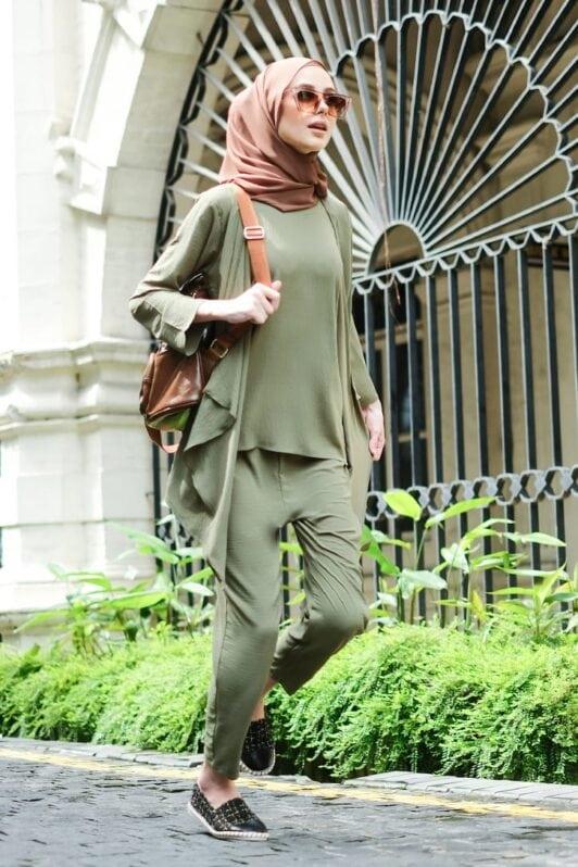 habra haute evelyn cardi casual wear for women cardigan baju casual baju kasual smart casual olive hijau ev20