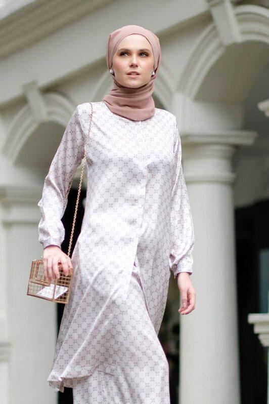 Habra Bissara Long Tunic suit casual wear women muslimah casual wear malaysia casual wear for ladies kasual wanita kasual smart BS14