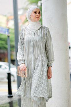 Habra Bissara Long Tunic suit casual wear women muslimah casual wear malaysia casual wear for ladies kasual wanita kasual smart BS15