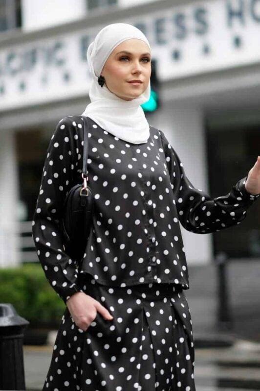 habra haute emma skirt set skirt kembang skirt labuh skirt muslimah skirt and blouse skirt set outfit skirt set summer skirt set casual skirt summer black EM24