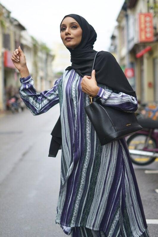 Habra Bissara Long Tunic suit casual wear women muslimah casual wear malaysia casual wear for ladies kasual wanita kasual smart tribal BS20