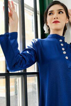habra haute baju kurung baju kurung pahang baju kurung riau baju kurung cekak musang baju kurung melaka kurung pahang kurung riau baju kurung labuh baju raya 2021 biru kadija KD38