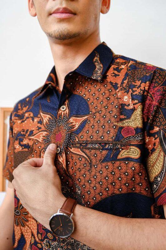 habra haute batik sedondon couple set kurung batik malaysia indonesia batik cotton kemeja batik jawa modern batik baju raya 2021 khaled KH89