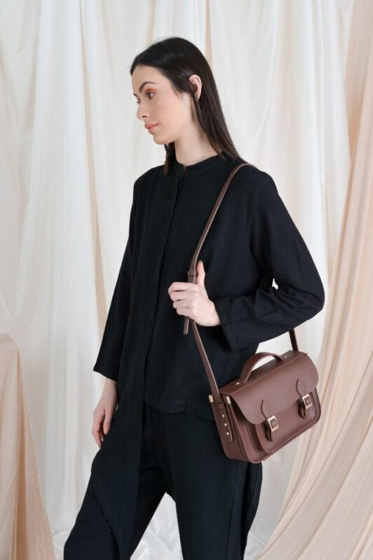 habra haute casual top pants suit casual wear for women blouse muslimah shirt for women shirt collar type kasual niko NI02 black