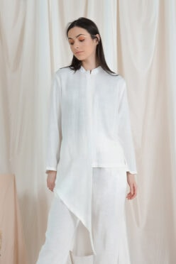 habra haute casual top pants suit casual wear for women blouse muslimah shirt for women shirt collar type kasual niko NI11 off white